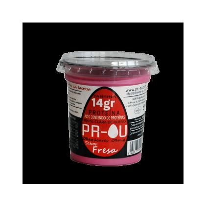 Tarrina clara de huevo fresa PR-OU 120 gr