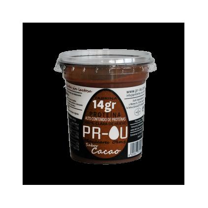 Tarrina clara de huevo cacao PR-OU 120 gr