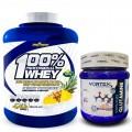 Pack Whey vainilla 2 Kg + Glutamina 300 gr
